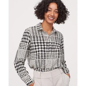 Richard Allan X H&M Houndstooth Patterned Blouse